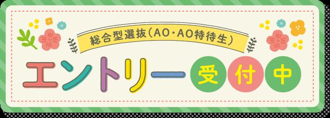 総合型選抜(AO・AO特待生)エントリー受付中
